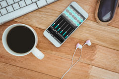 Composite image of music app Royalty Free Stock Photo