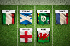 Composite image of 6 nations teams flags Stock Photo