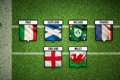 Composite image of 6 nations teams flags Stock Image