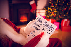 Composite image of naughty or nice Royalty Free Stock Photo