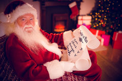 Composite image of naughty or nice Stock Image