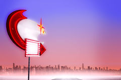 Composite image of neon sign Royalty Free Stock Image