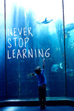 Composite image of never stop learning Royalty Free Stock Images