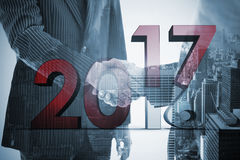 Composite image of new over old year Royalty Free Stock Images