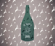 Composite image of new year bottle Stock Image