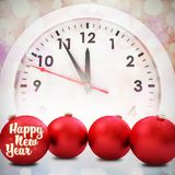 Composite image of new year graphic stock photography