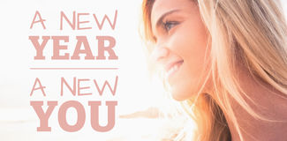 Composite image of new year new you Stock Images