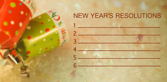 Composite image of new years resolution and decoration stock illustration