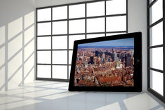 Composite image of new york on tablet screen Stock Photography