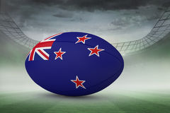 Composite image of new zealand flag rugby ball Stock Image