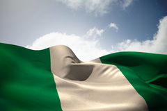 Composite image of nigeria flag waving Stock Photography
