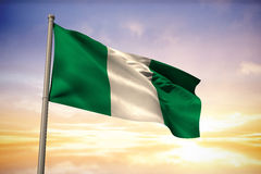 Composite image of nigeria national flag Royalty Free Stock Photos