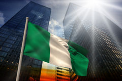 Composite image of nigeria national flag Stock Photos