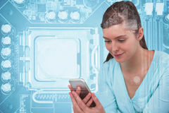 Composite image of nurse using mobile phone Stock Image