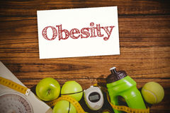 Composite image of obesity Royalty Free Stock Image