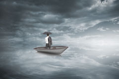 Free Composite Image Of Businessman Standing Back To Camera In A Sailboat Stock Photo - 39445520
