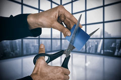 Free Composite Image Of Businesswoman Cutting Credit Card With Scissors Royalty Free Stock Photo - 93951545