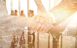 Free Composite Image Of Handshake Between Two Business People Stock Photos - 89069403