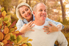 Free Composite Image Of Happy Mature Man Giving Piggy Back To Partner Stock Photo - 63279220