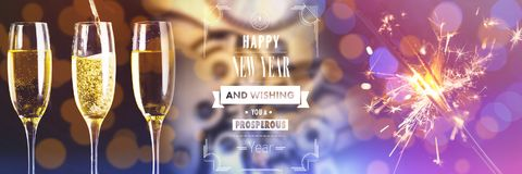 Free Composite Image Of Happy New Year Message Royalty Free Stock Photography - 105300847
