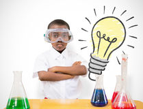 Composite Image Of Pupil Conducting Science Experiment Royalty Free Stock Photo