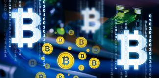 Free Composite Image Of Symbol Of Bitcoin Digital Cryptocurrency Royalty Free Stock Images - 104831859