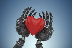 Free Composite Image Of Three Dimensional Image Of Cyborg Holding Heart Shape Decoration 3d Royalty Free Stock Image - 89120386