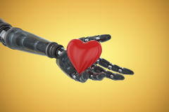 Free Composite Image Of Three Dimensional Image Of Cyborg Showing Red Heart Shape 3d Royalty Free Stock Image - 89120396
