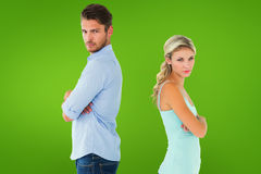 Free Composite Image Of Unhappy Couple Not Speaking To Each Other Royalty Free Stock Photos - 49564638