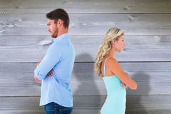 Free Composite Image Of Unhappy Couple Not Speaking To Each Other Stock Images - 49566574