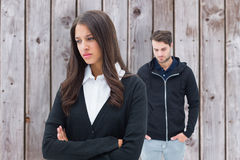 Free Composite Image Of Unhappy Couple Not Speaking To Each Other Stock Image - 50125171