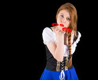 Composite image of oktoberfest girl blowing a kiss Stock Photography
