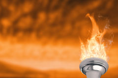 Composite image of the olympic fire Royalty Free Stock Image