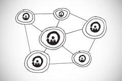Composite image of online community doodke Stock Image