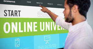 Composite image of online courses interface Stock Photography
