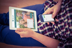 Composite image of online dating app Royalty Free Stock Images