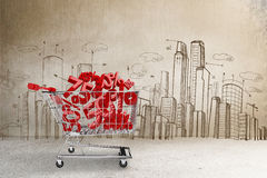 Composite image of online shopping concept Royalty Free Stock Images