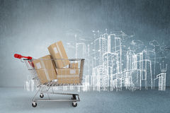 Composite image of online shopping concept Royalty Free Stock Photography