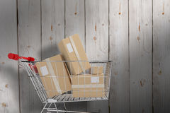 Composite image of online shopping concept Royalty Free Stock Photos