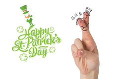 Composite image of patricks day fingers Royalty Free Stock Photography