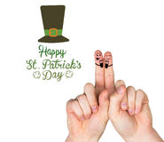 Composite image of patricks day fingers Stock Photos