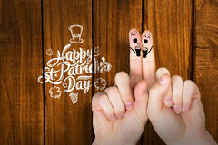 Composite image of patricks day fingers Stock Photography