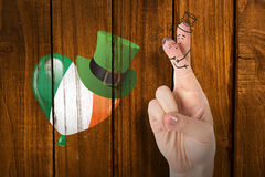 Composite image of patricks day fingers Royalty Free Stock Images