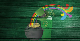 Composite image of patricks day graphics Stock Photos