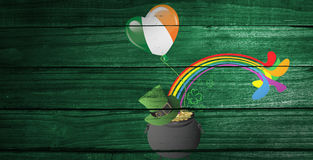 Composite image of patricks day graphics Royalty Free Stock Photography