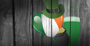 Composite image of patricks day graphics Stock Photo