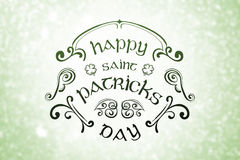 Composite image of patricks day greeting Royalty Free Stock Photography