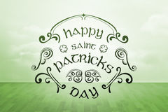 Composite image of patricks day greeting Royalty Free Stock Photos