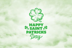 Composite image of patricks day greeting Stock Photography