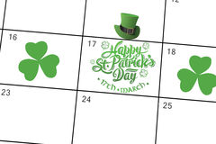 Composite image of patricks day greeting Stock Photo